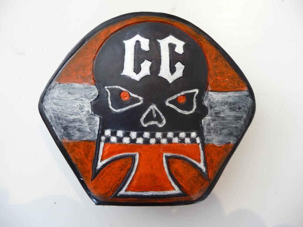 Ledergürtelschnalle CC